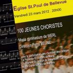 100 Jeunes Choristes Eglise St Paul de Bellevue