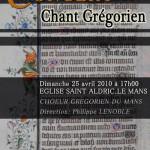 Concert Chant Grégorien Eglise St Aldric