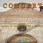 Concert Chant Sacré Chapelle de l'Oratoire Lycée Montesquieu